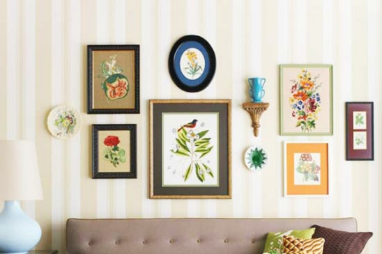 tutorial thursday hanging your diy wall art with elle