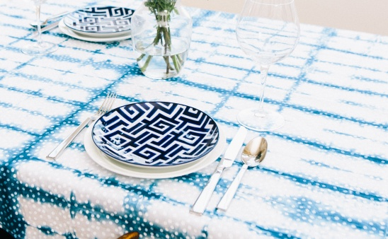 Shibori Dyed Tablecloth By Jo Ann | Project | Sewing | Dyeing / Decorative  | Coasters U0026 Tableware | Kollabora