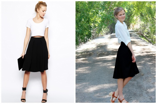 Asos Inspired Black Midi Skirt — Crafthubs