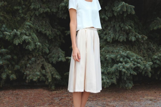 Cream Pleated Midi Skirt by Haylee Atkinson | Project | Sewing ...