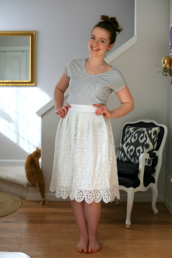A (super simple) spring midi skirt, linen and lace by Create/Enjoy ...