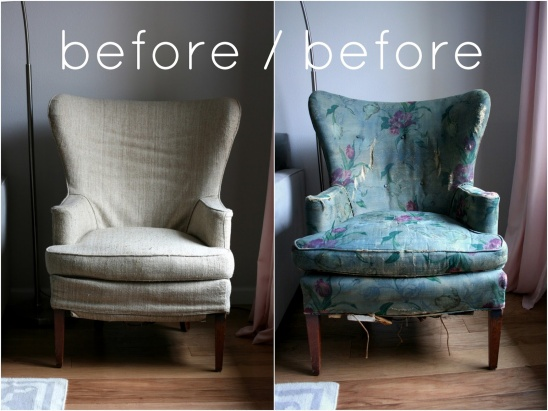 Vintage Wingback Chair Diy Slipcover By Create Enjoy