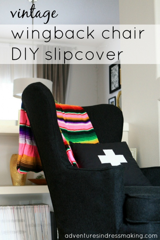 Vintage Wingback Chair DIY Slipcover By Create/Enjoy | Project | Sewing |  Home Decor / Decorative | Pillows | Kollabora