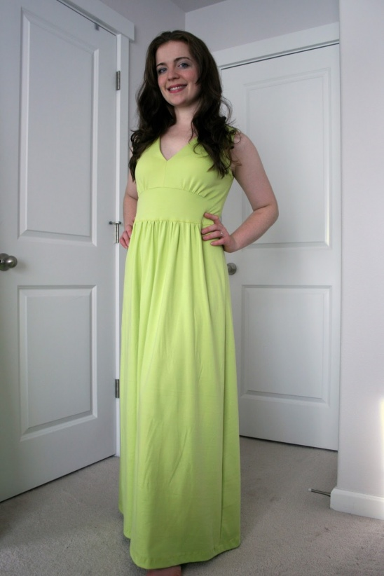 Bright lime green maxi dress by Create/Enjoy - Project - Sewing ...