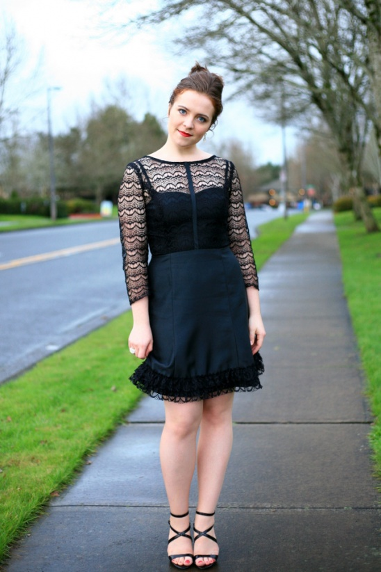 Black lace overlay bodice party dress by create enjoy for Diy party dress