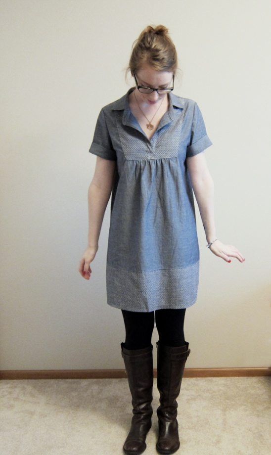 Chambray Tova Dress By Emilymarie Project Sewing Dresses