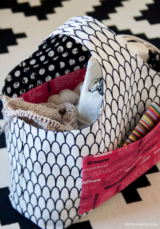Reversible Box Tote by Very Shannon | Project | Sewing / Bags ...