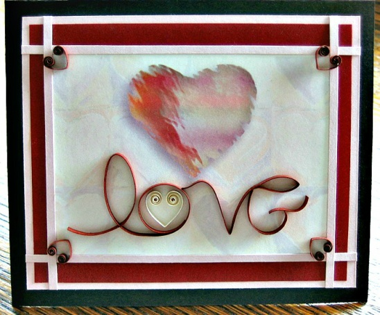 Quilled Valentine Card By All Things Paper Project Papercraft