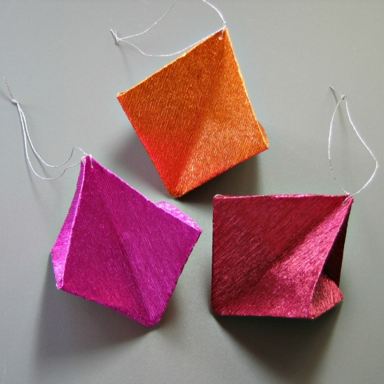 Metallic Origami Ornaments By All Things Paper Project Home