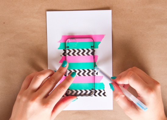 Washi tape iphone case by kollabora project papercraft for Washi tape phone case