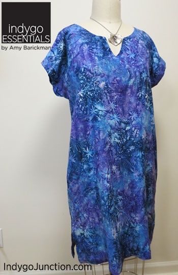 """a8badfd3c5 A simple shift dress that falls mid-thigh. Dress features """"cuffed"""" short  sleeves"""
