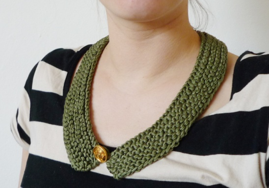 Knitted Collar Green By Anne Project Knitting Kollabora