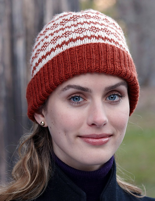 abeff1293a1 ... the details of this cozy hat make it a wonderful project for knitters  who enjoy using the Fair Isle technique. Worked in Superwash Merino Cashmere