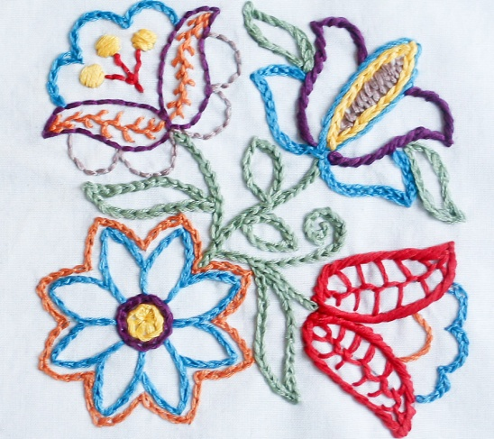 Pdf Embroidery Pattern Bewitching Botanicals Floral Folklore