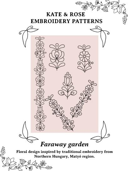 Faraway Garden Hungarian Maty Embroidery Pattern PDF By