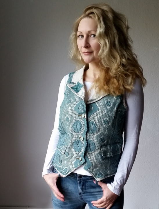 A Diy Upcycled Refashioned Crocheted Vest By Sheri Pavlović