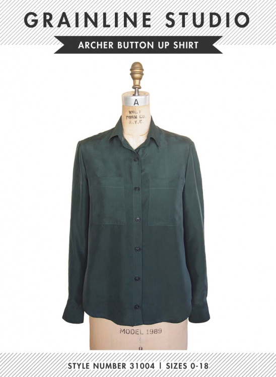 Archer Button Up Shirt By Grainline Studio Project Sewing