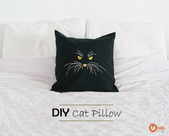 Cat Pillow By Ama Ryllis Project Sewing Embroidery Decorative Kollabora