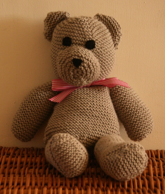 Knitted Teddy Bear Dishcloth Pattern : Knitted Teddy Bear by Claireabellemakes Project ...