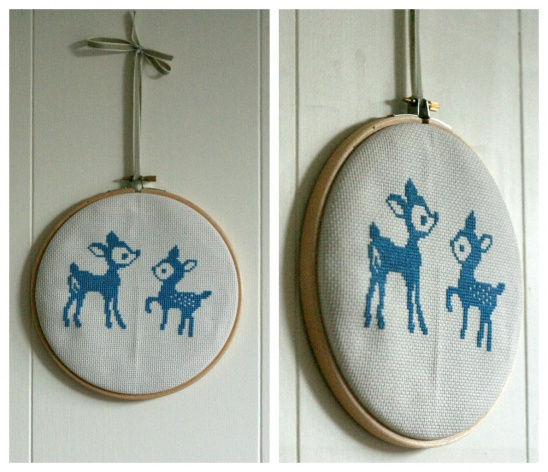 deer cross stitch by claireabellemakes project sewing cross stitch decorative kollabora