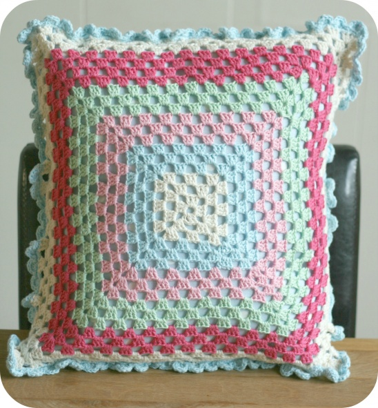 Crochet Granny Square Cushion By Claireabellemakes Project
