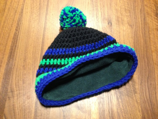 ... fleece lined hat is finished. 10. Finished! 70bdf9b619e