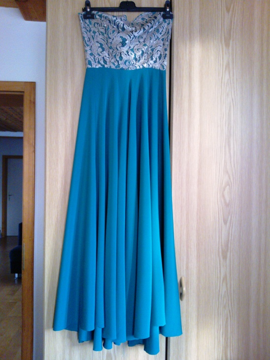 Turquoise and silver ball gown by nelakell | Project | Sewing ...