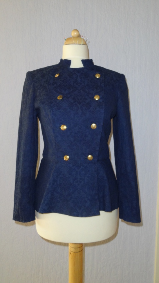 Military Inspired Jacket With Peplum By Eleonora Project