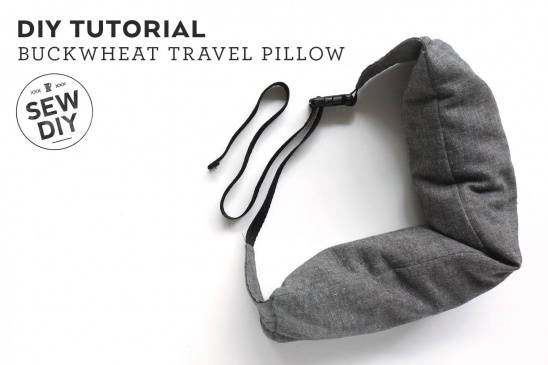 Buckwheat Travel Pillow Tutorial By Sew Diy Project Sewing