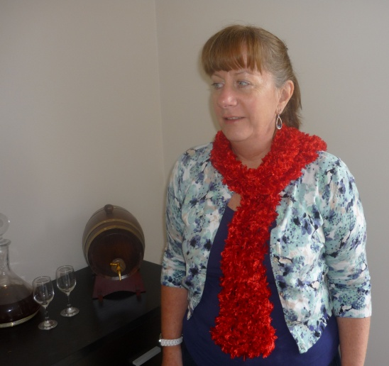 Red Scarf By Shellys Diy Project Knitting Accessories
