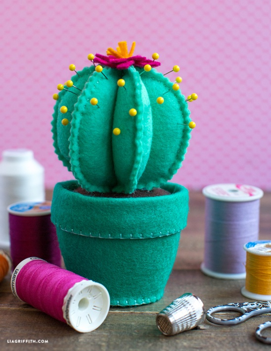 Felt Cactus Pincushion By Lia Griffith Project Sewing