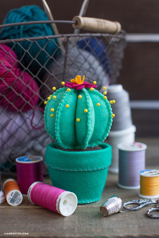 Felt Cactus Pincushion by lia griffith | Project | Sewing ...