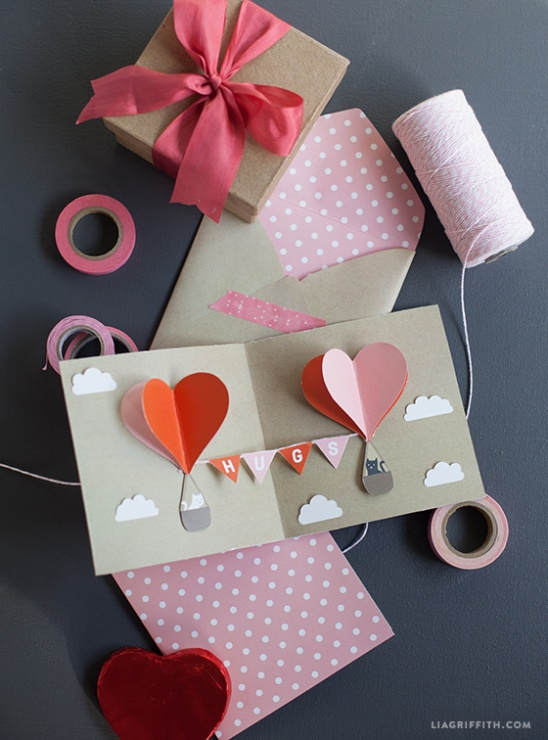 DIY Kids Valentines PopUp Card by lia griffith – Valentines Pop Up Cards