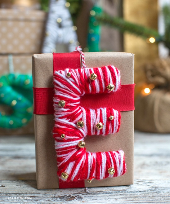 Home Decor Hostess Gifts: Yarn Monogrammed Hostess Gifts By Lia Griffith
