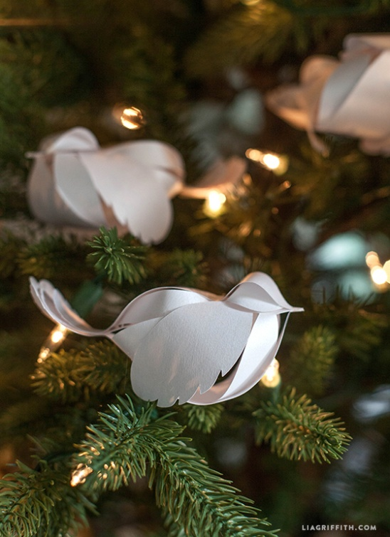 Diy Paper Birds By Lia Griffith Project Home Decor Papercraft Accessories Decorative Holiday Kollabora