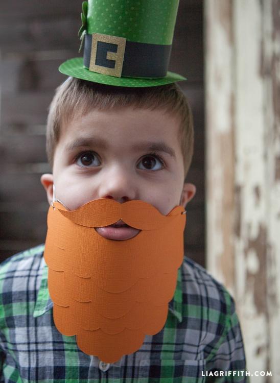 Leprechaun beard by lia griffith project papercraft for Leprechaun mask template