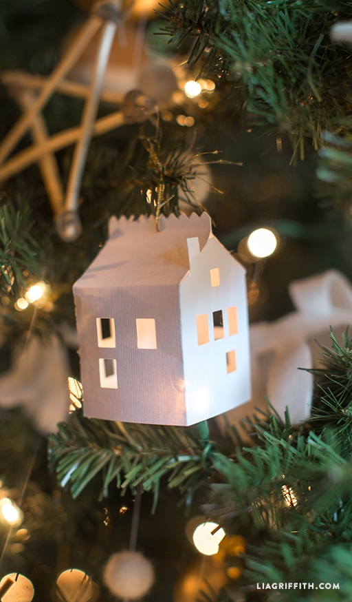 DIY Paper House Christmas Ornament By Lia Griffith | Project | Papercraft | Home  Decor / Decorative | Holiday | Kollabora