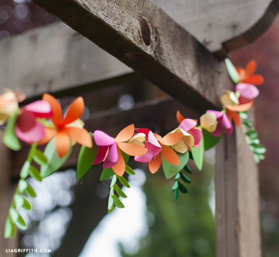 Diy Spring Paper Garland By Lia Griffith Project Home Decor