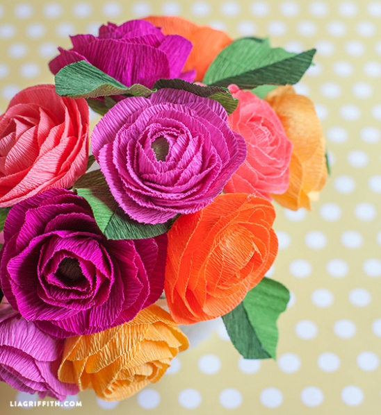 Diy Crepe Paper Ranunculus Flowers By Lia Griffith Project