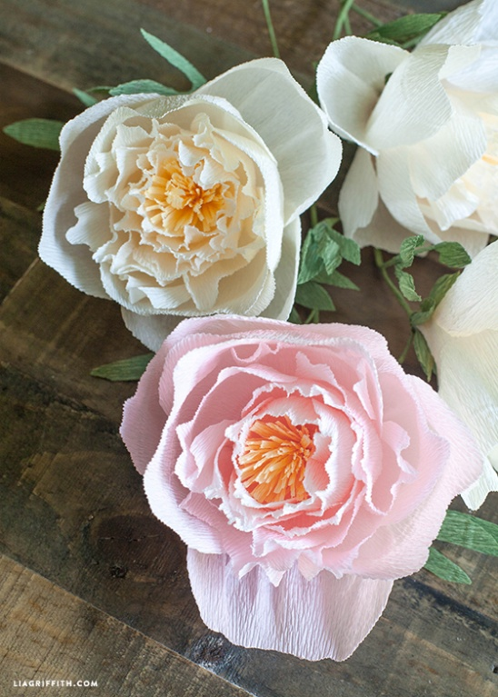 paper peonies If you're looking for pretty party decor or a simple way to add a pop of flowers to your space (that won't wilt), make your own peony-style paper flowers with the help of coffee filters.