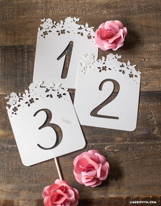 table numbers template for weddings - diy wedding table numbers by lia griffith project home