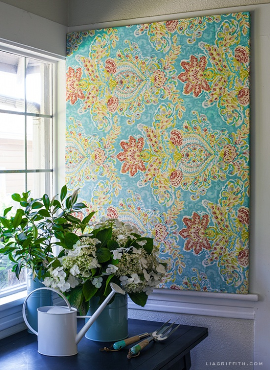 Diy Art From Fabric Amp Frame By Lia Griffith Project