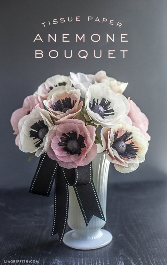Diy Tissue Paper Anemone Bouquet By Lia Griffith Project