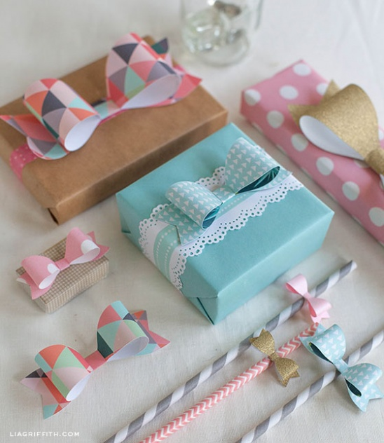 Paper Bow Template In 4 Sizes By Lia Griffith Project Papercraft