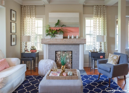 coral living room designlia griffith | project | home decor