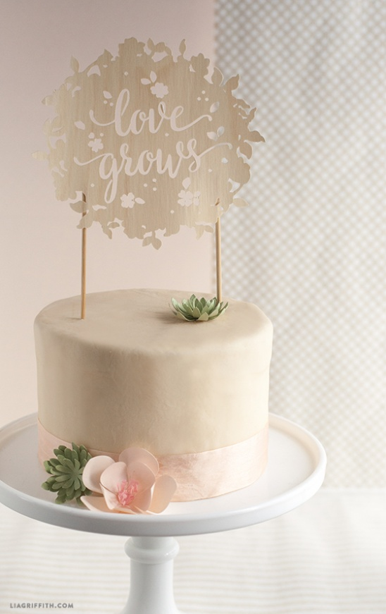 DIY Wedding cake and cupcake topper by lia griffith   Project   Home ...