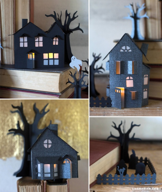 3D Paper Haunted Village By Lia Griffith