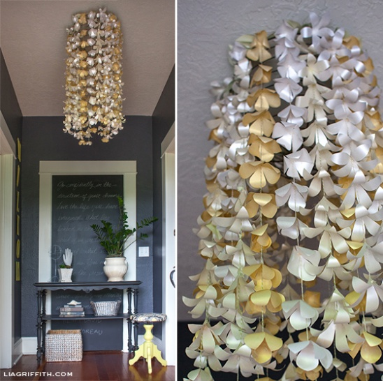 Diy Paper Flower Chandelier By Lia Griffith Project Home Decor