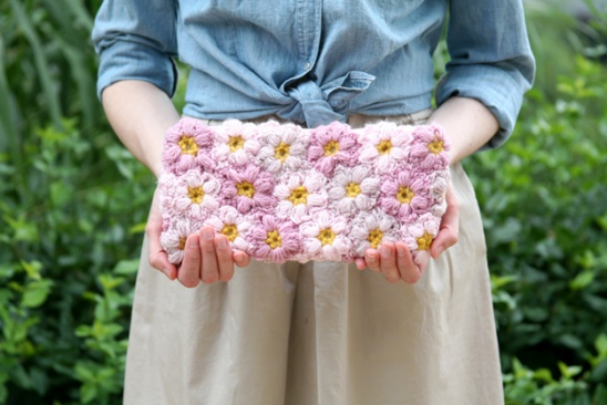 Crochet Flower Power Clutch By Erica Caught On A Whim Project