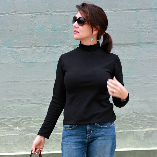 Basic Black Turtleneck By Justine Marie Project Sewing Shirts